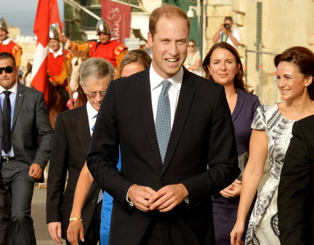 Prince William tours Malta in place of pregnant Duchess Kate